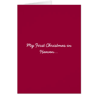 My First Christmas in Heaven Red Greeting Card