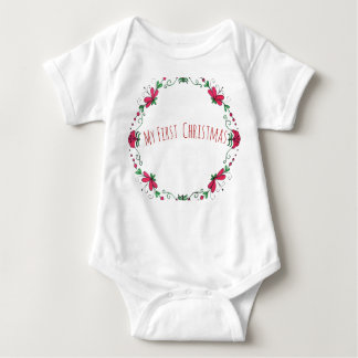 """""""My First Christmas"""" One Peice For Baby Baby Bodysuit"""