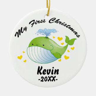 My First Christmas Ornament - Baby whale template
