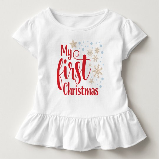 My First Christmas with Snowflakes | Toddler T-shirt