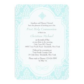 My First Communion Blue Invitation