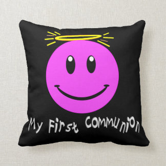 My First Communion Pillow Smiley Face