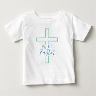 My First Easter Blue/Green Fade Cross T-Shirt