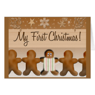 My first Gingerbread Christmas Cards