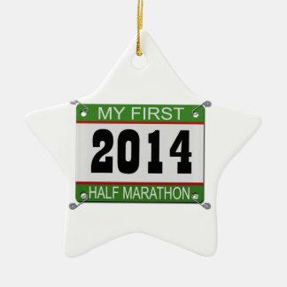 My First Half Marathon Ornament - 2014
