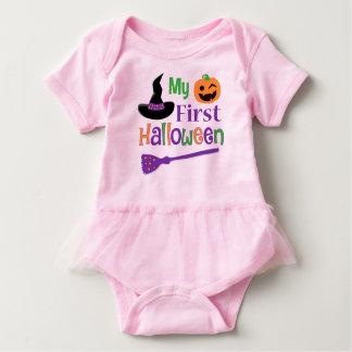 My First Halloween Baby Tutu Bodysuit