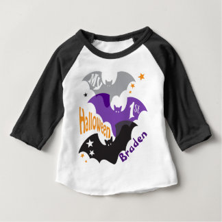 My First Halloween BAT Jersey for Baby BOY Baby T-Shirt
