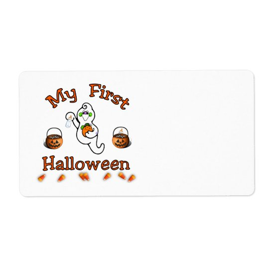 My First Halloween Shipping Label