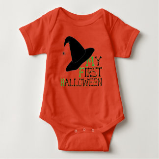 """My First Halloween"" Witch's Hat & Color Option #2 Baby Bodysuit"