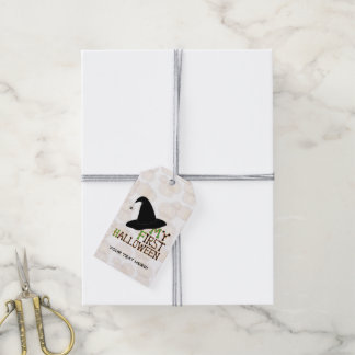 """""""My First Halloween"""" Witch's Hat - Gift Tag"""