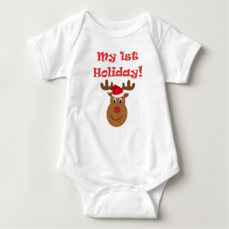 My first holiday baby bodysuit