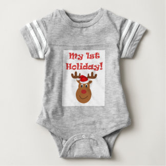 My First holiday baby romper