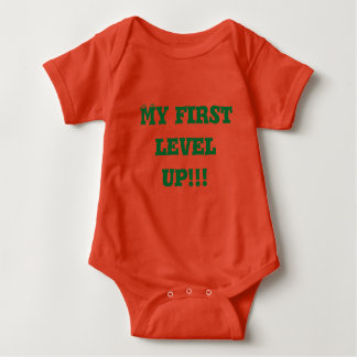 My first level up baby bodysuit