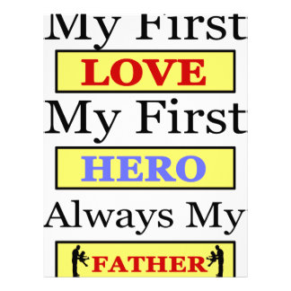 My First Love My First Hero Always My Dad Personalized Letterhead