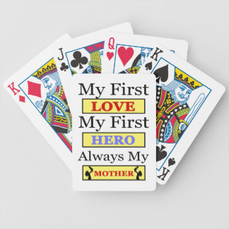 My First Love My First Hero Always My Mother Bicycle Playing Cards