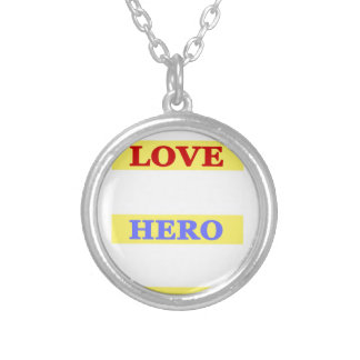 My First Love My First Hero Always My Mother Silver Plated Necklace