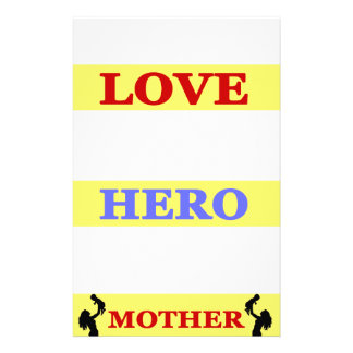 My First Love My First Hero Always My Mother Stationery
