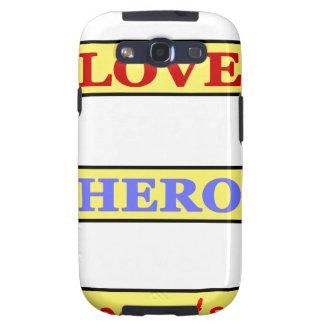 My First Love My First Hero Always My Parents Samsung Galaxy S3 Case