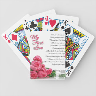 My First Love Poem Bicycle Playing Cards