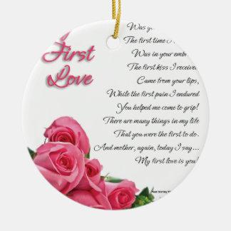 My First Love Poem Ceramic Ornament