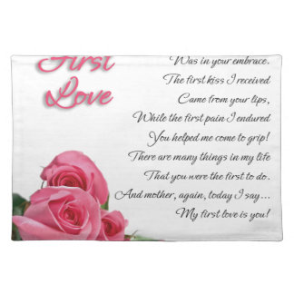 My First Love Poem Placemat