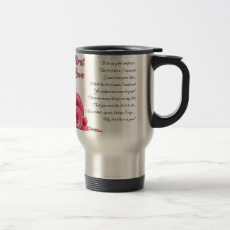 My First Love Poem Travel Mug