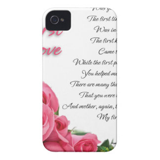 My First Love Poetry Art By Stanley Mathis iPhone 4 Case-Mate Case