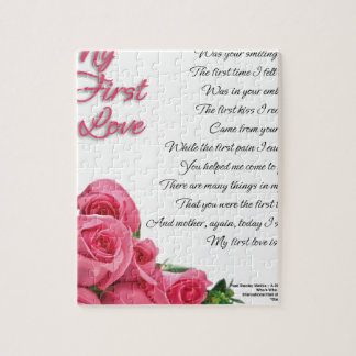 My First Love Poetry Art By Stanley Mathis Jigsaw Puzzle
