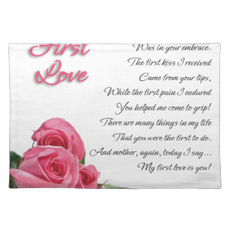 My First Love Poetry Art By Stanley Mathis Placemat