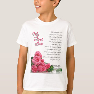 My First Love Poetry Art By Stanley Mathis T-Shirt