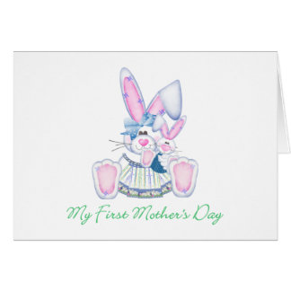 My First Mother's Day (bunny) Greeting Cards