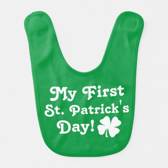 My First St. Patricks Day | Green Baby Bib