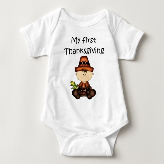 My First Thanksgiving Girl #3 *Creeper* Baby Bodysuit