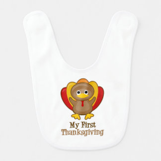 My First Thanksgiving Turkey Bib