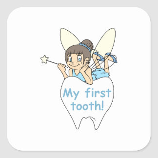 MY FIRST TOOTH SQUARE STICKER