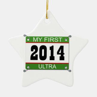 My First Ultra - 2014 Ceramic Star Ornament