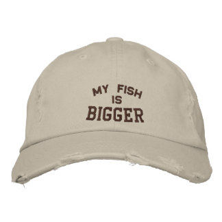 My Fish is, Bigger Embroidered Hat