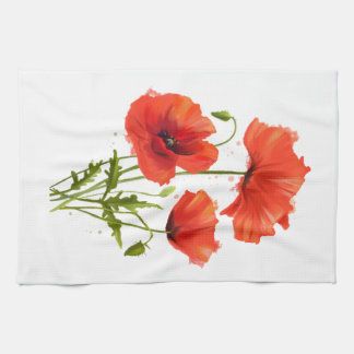 My flowers Poppies Kitchen Towel