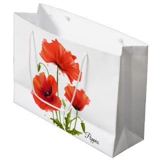 My flowers Poppies Large Gift Bag