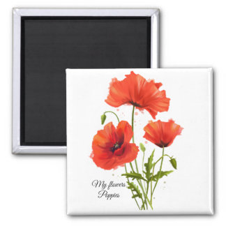 My flowers Poppies Magnet