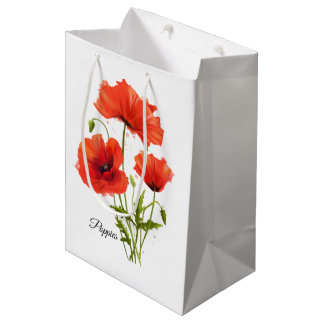 My flowers Poppies Medium Gift Bag