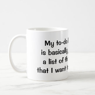 """My Food To-Do List"" mug"