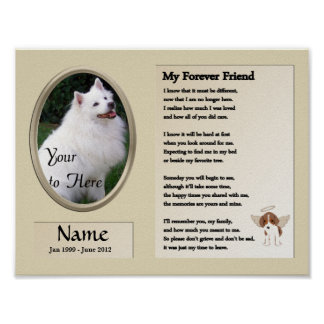 My Forever Friend Dog Memorial - Pet - Beige Poster