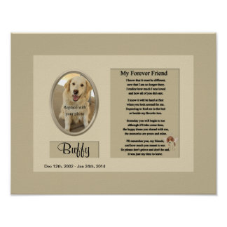 My Forever Friend Dog Memorial Poster
