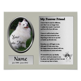 My Forever Friend Pet Memorial - Dog Poster