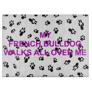my french bulldog walks on me boards
