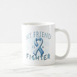 My Friend is a Fighter Light Blue Coffee Mugs