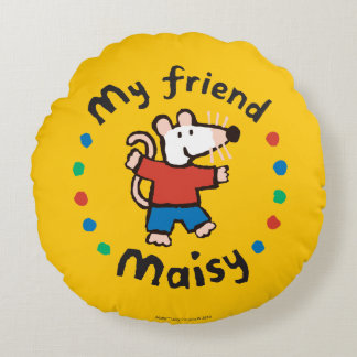 My Friend Maisy Colorful Circle Design Round Pillow