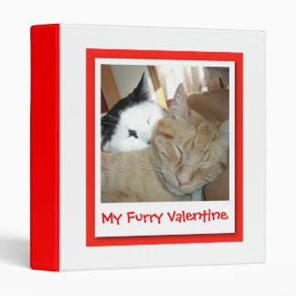 My Furry Valentine Vinyl Binder