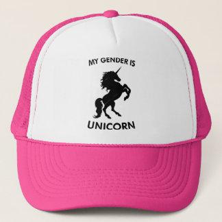 My gender is unicorn trucker hat